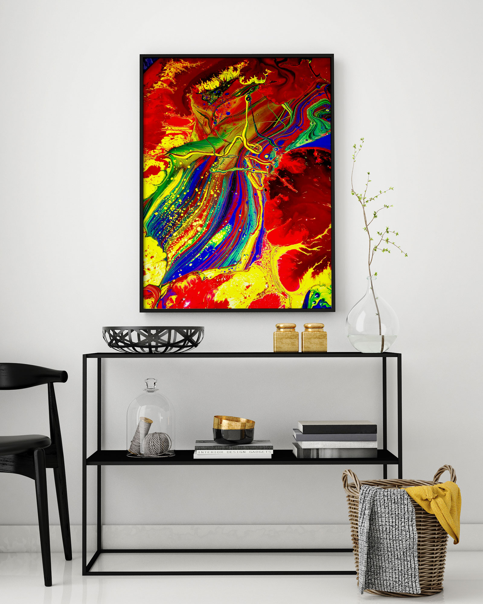 One-of-a-kind, limited edition Ink Waste Art prints.