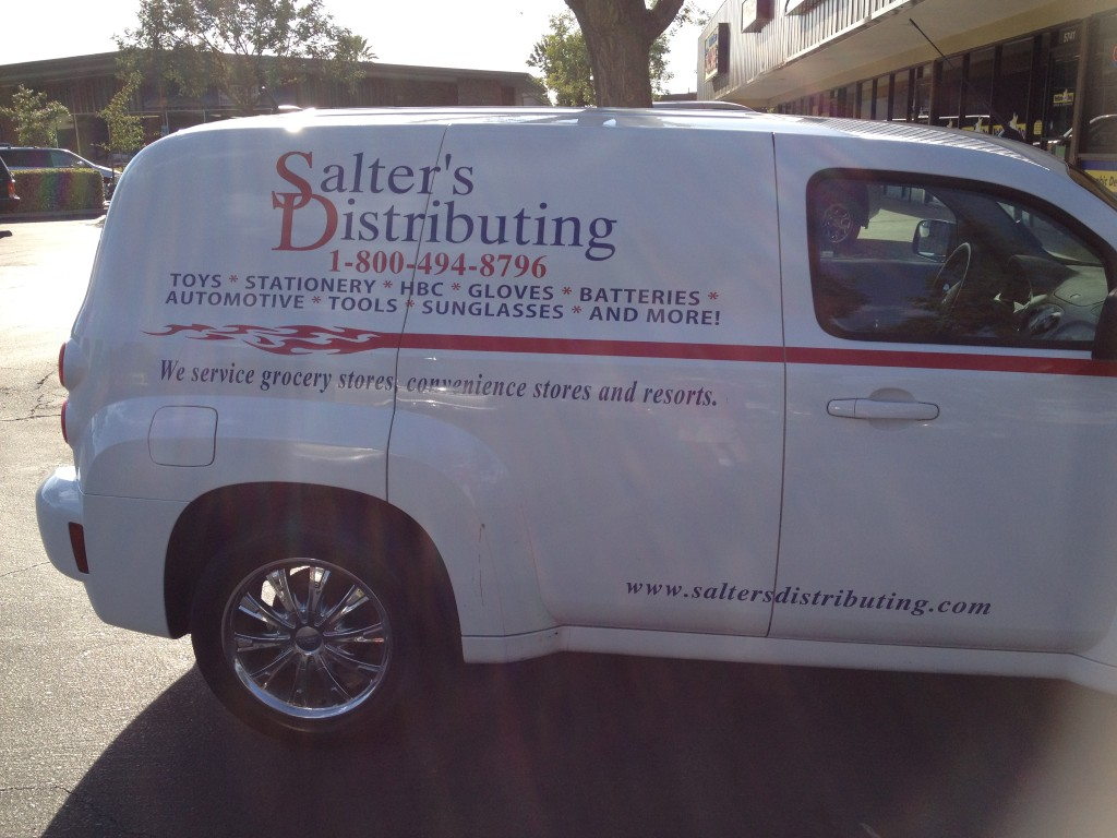 Salter's Distributing Deliver Vehicle