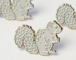 Gray Squirrel Pin by Darwin Designs