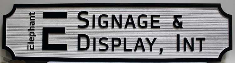 S28155 - Carved and Sandblasted Wood Grain HDU Sign  for the Signage and Display Company