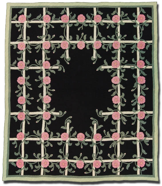 Rose Bower, Made by Rose Modjeska, Probably made in Downer's Grove, Illinois, United States, Circa 1935, 85 x 72   in, IQSC 1997.007.0638