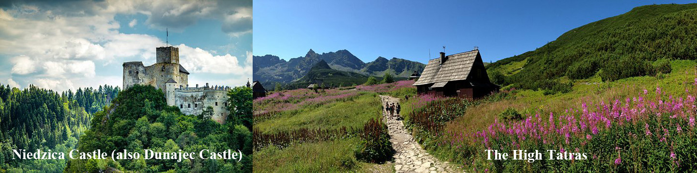 Niedzica Castle and The High Tatras in Poland