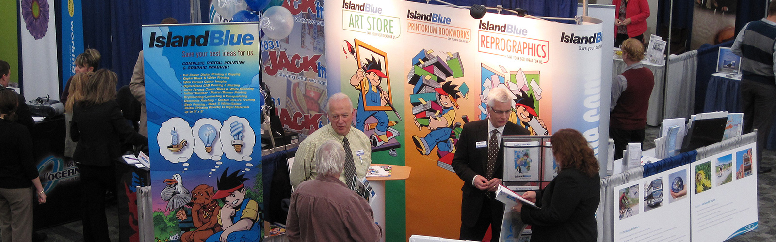 Island blue digital print tradeshow displays malvernweather Gallery