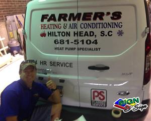 Farmer's Heating & Air van