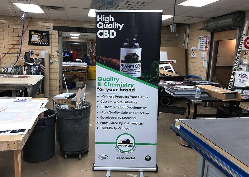 Pharm CBD Banner Stand