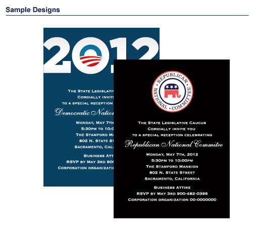 Fundraising Invitation Packages  Custom Printing For Your
