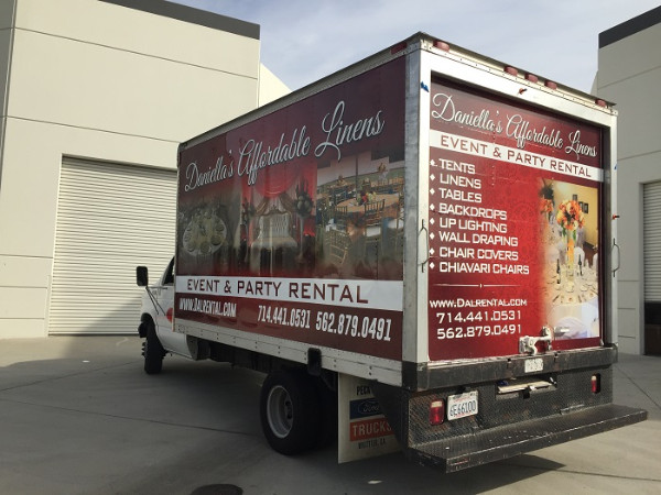Box Truck Wraps for Event and Party Rental Companies in Fullteron CA