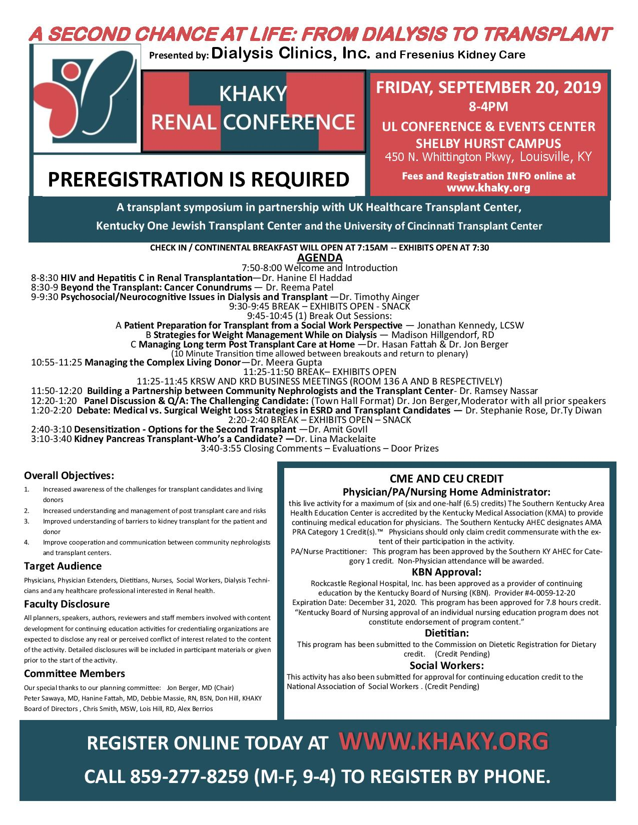 Renal Conference Flyer