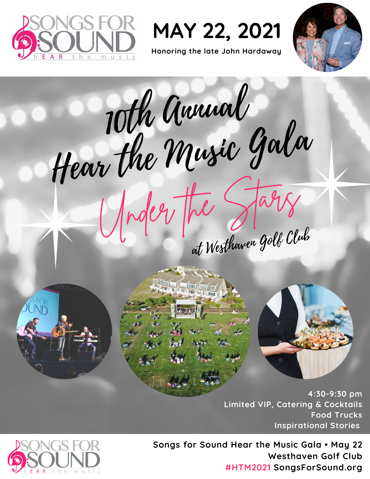 MAY 22nd: 10th Annual Hear the Music Gala Under the Stars