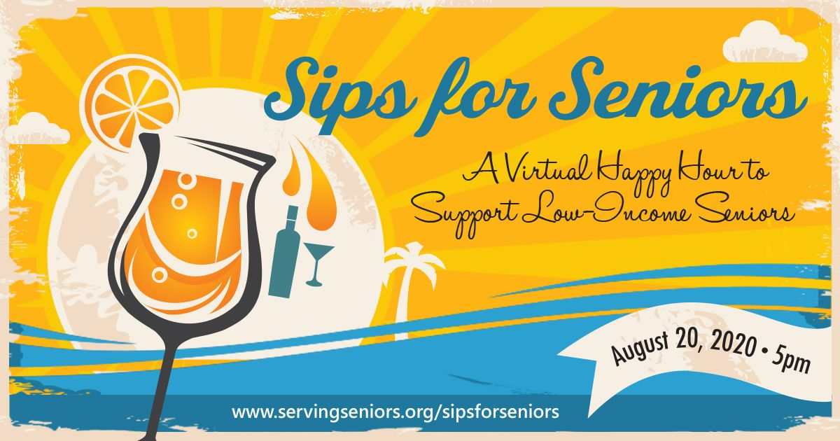 Sips for Seniors - Virtual Happy Hour