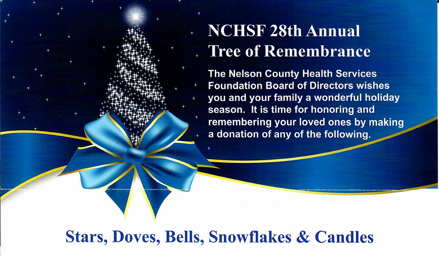 NCHSF 28th Annual Tree of Remembrance