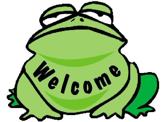 GA16717- Design of Carved Wood or HDU Welcome Sign with Cartoon Frog