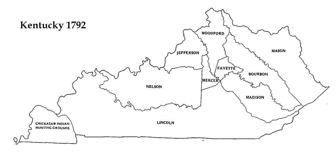 Kentucky Genealogist - Kentucky County Formation in Maps