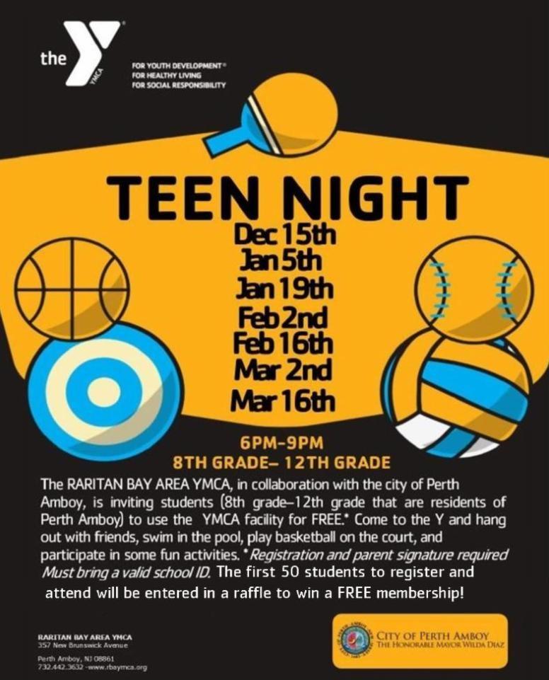 Teen Night at the Raritan Bay Area YMCA