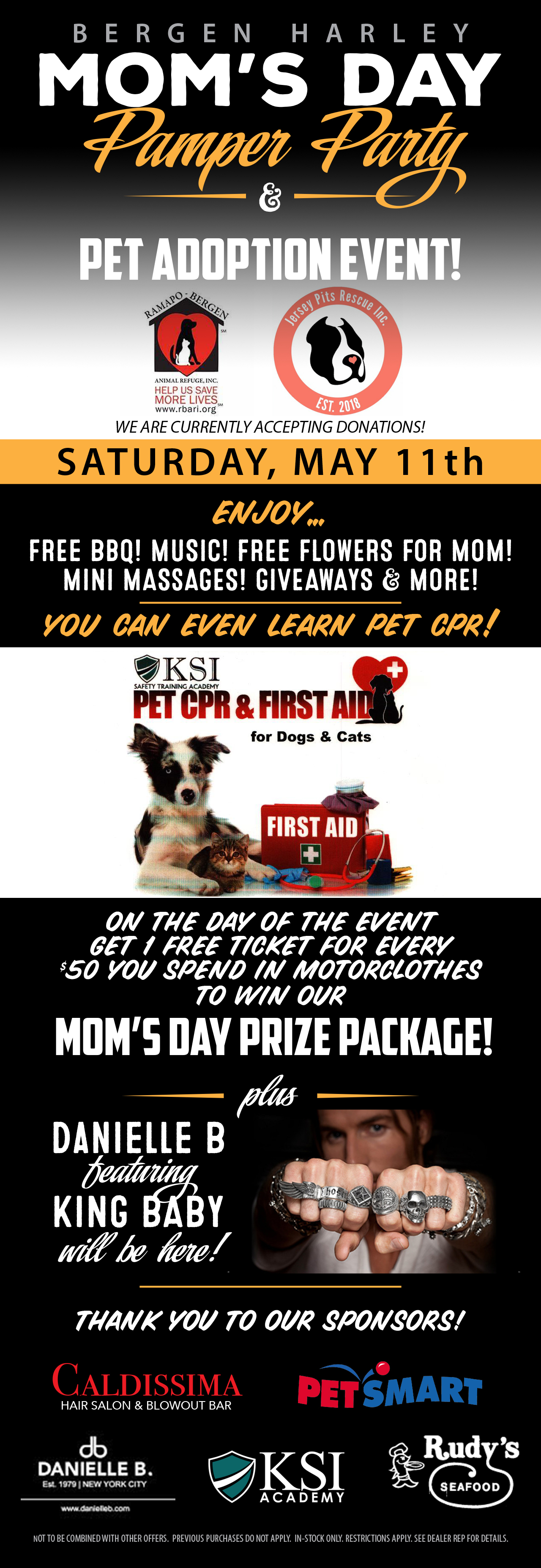 Bergen Harley Mom's Day Pamper Party & Pet Adoption Event!