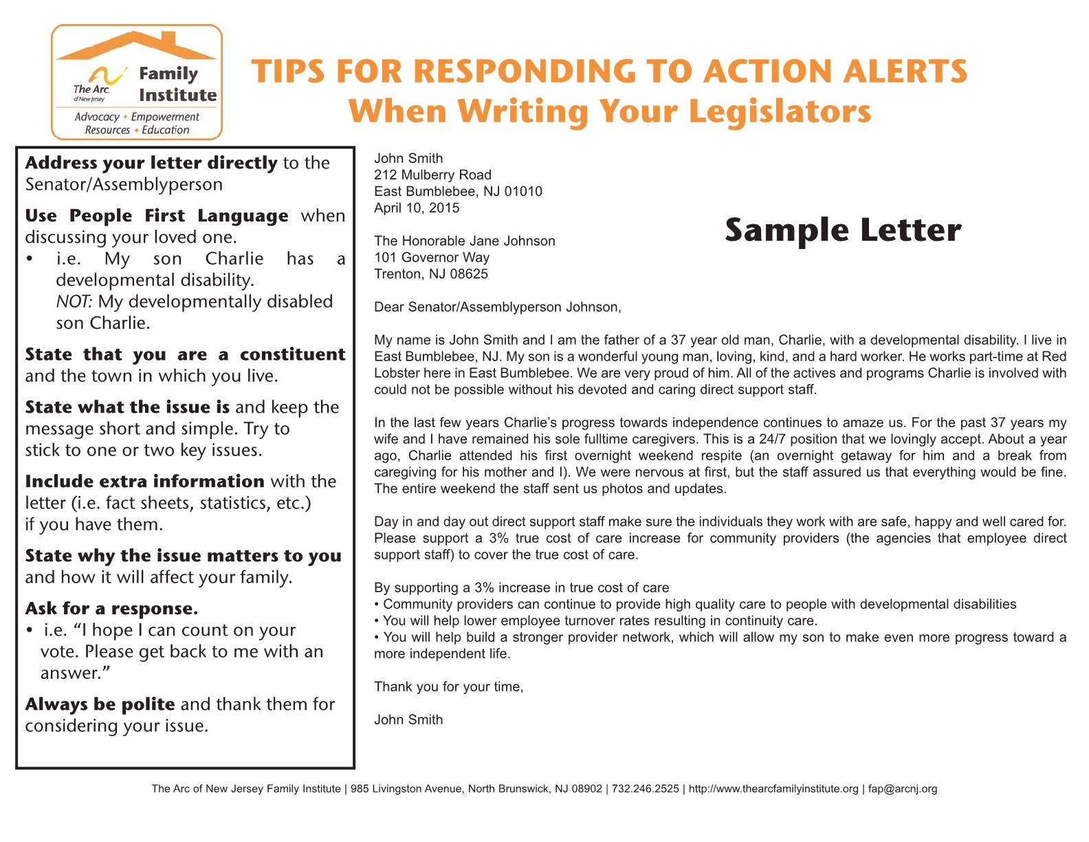 Tips for responding to action alerts when writing