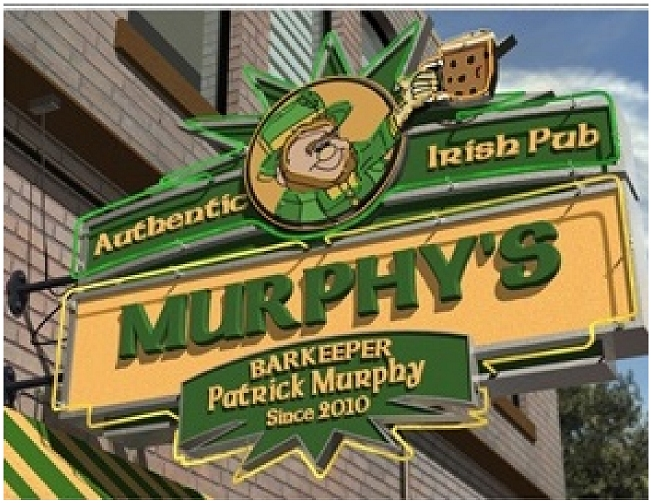 Y27620 - Large Irish Pub Blade Sign with Leprechaun and Beer
