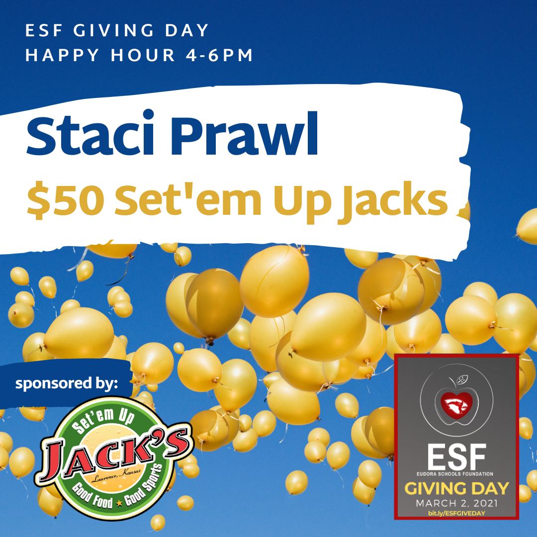 Happy Hour - $50 Set'em Up Jacks