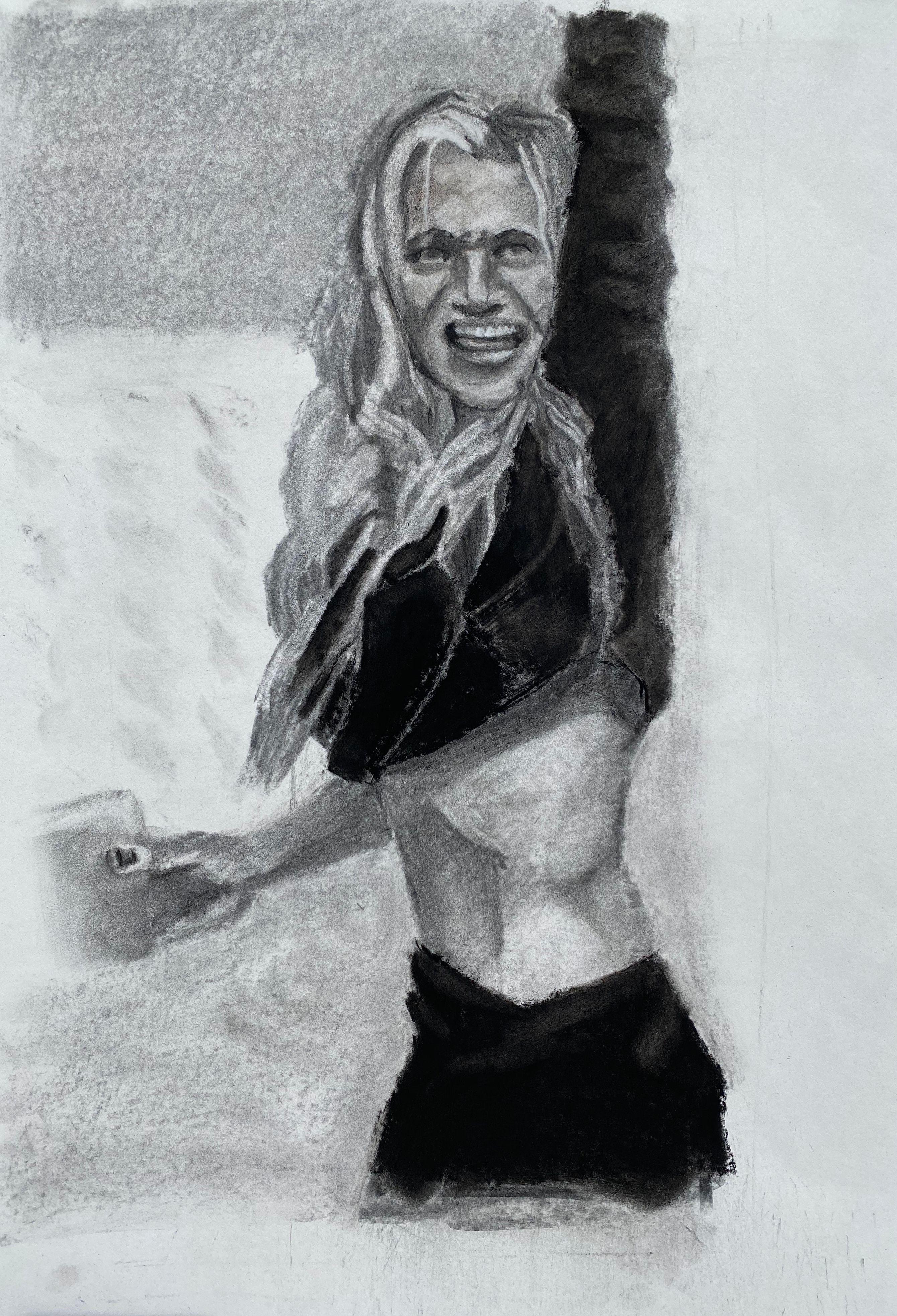 Artist: Daniel Donato, Charcoal on Paper
