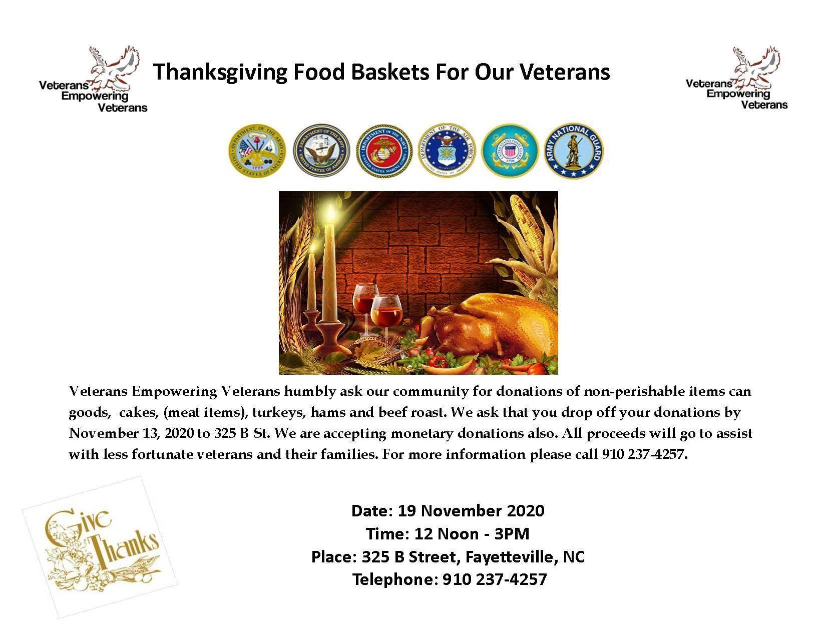 Veterans Empowering Veterans Seeking Donations