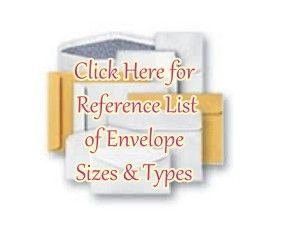 reference list of booklet envelopes