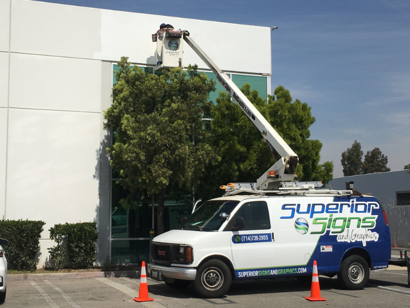 Building Sign Installation Anaheim cA