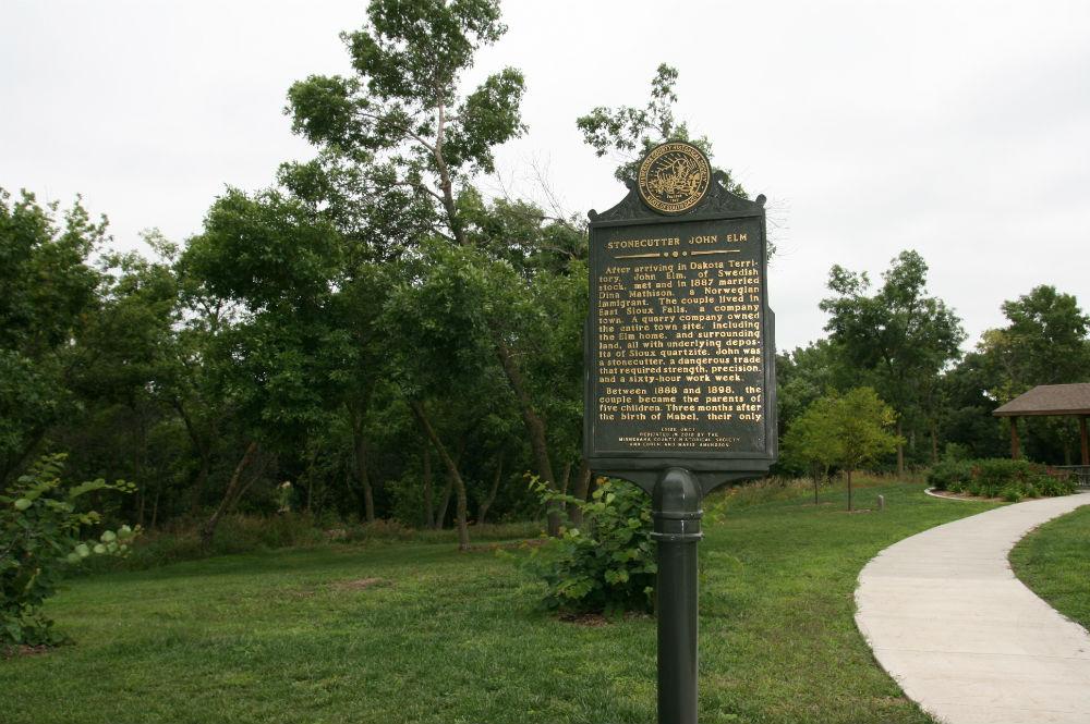 John Elm historical marker (front)
