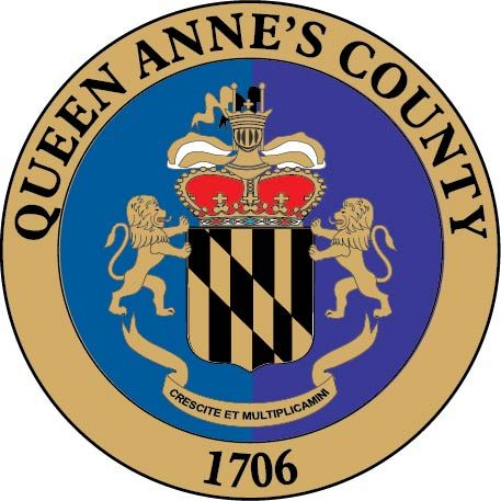 CP-1490 -  Plaque of the Seal of Queen Anne's County, Maryland,  Giclee