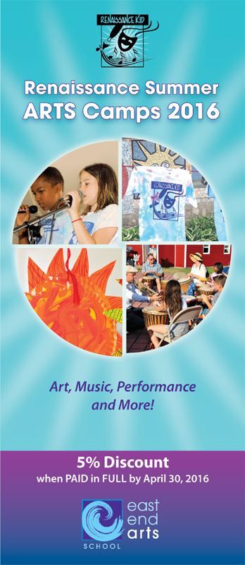 Summer Arts Camps for Kids: July & August 2016 (posted April 5, 2016)