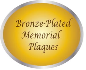 ZP-2000 - Carved Memorial and Commemorative Wall Plaques, Painted Light and Dark Bronze
