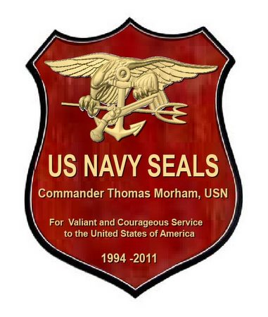 V31289 - Personalized Carved Wooden Shield Plaque for USN SEALS