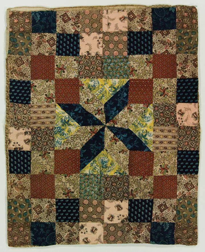 Resist Printing quilt: LeMoyne Star