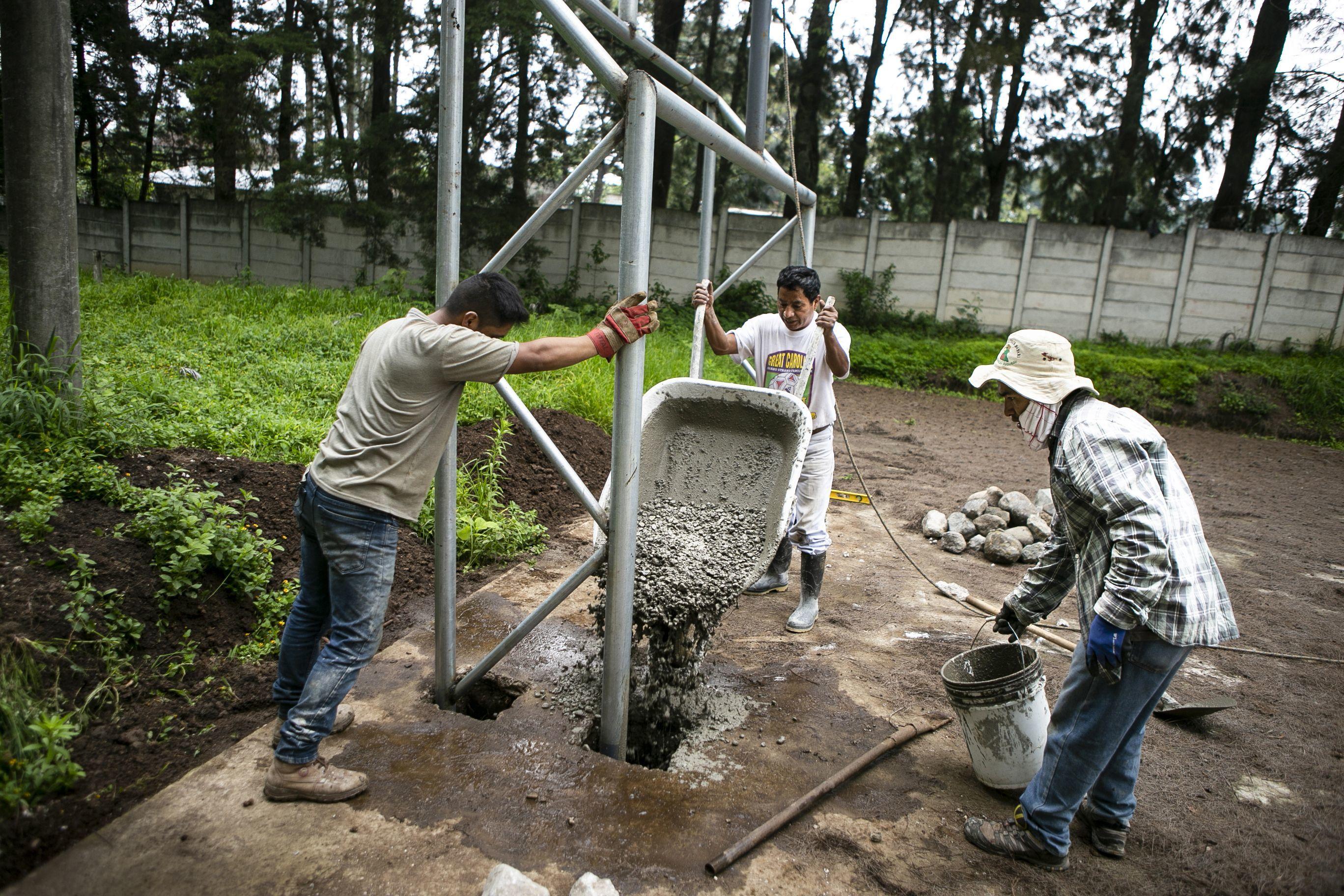 "Goalposts for the ""El Socorro"" School!"