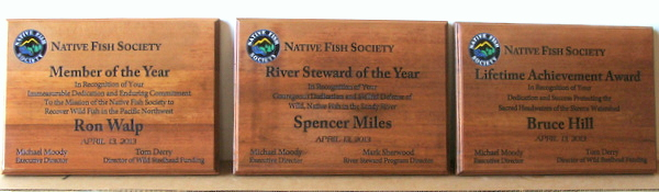 G16086 - Cedar Wood Plaques with Emblem for Native Fish Society