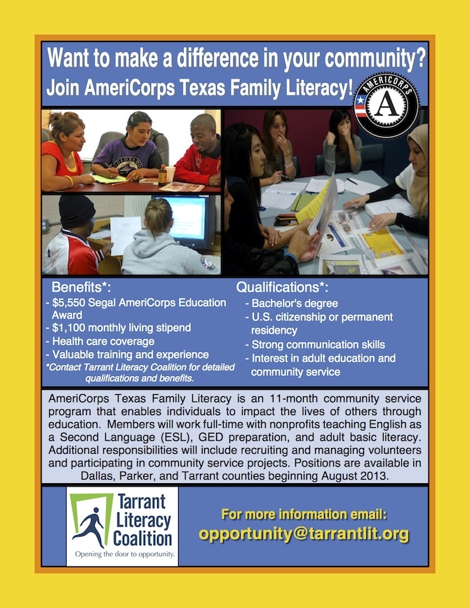 Texas Family Literacy AmeriCorps