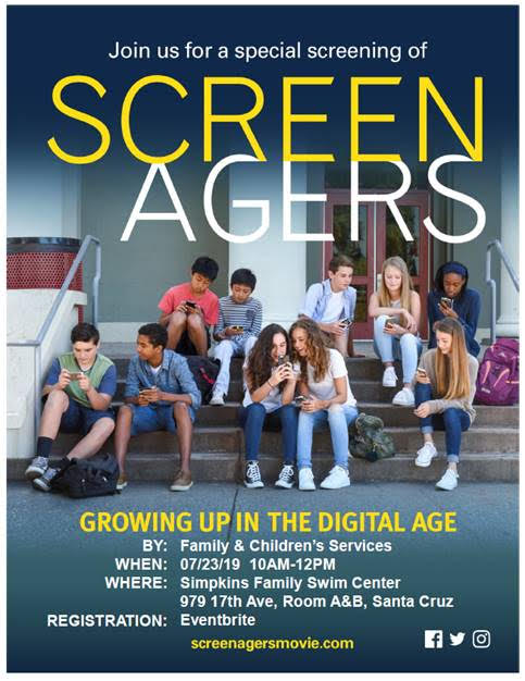 """Special Screening: """"Screenagers"""", July 23rd @ 10am at Simpkins"""