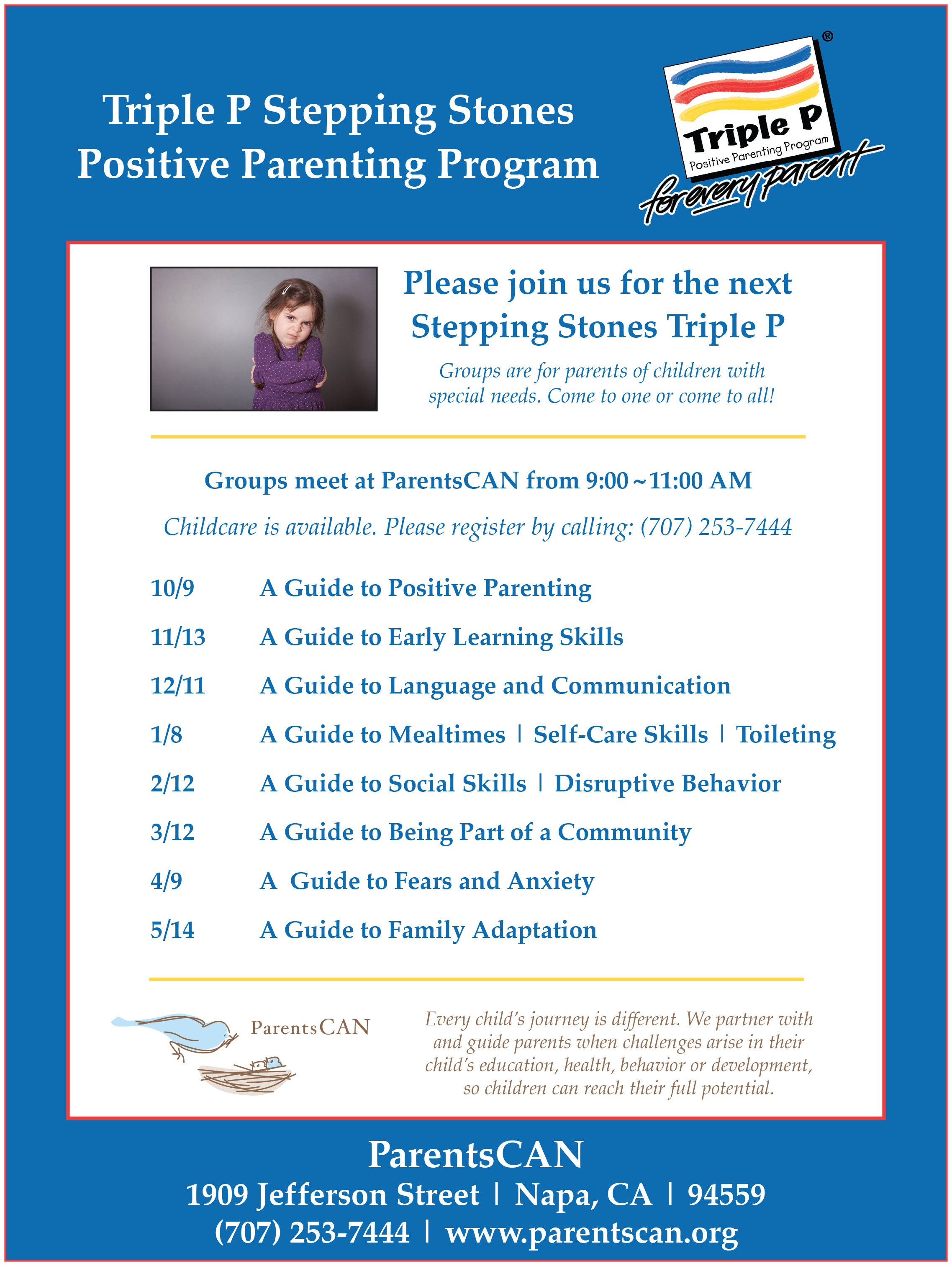 Stepping Stones Flyer English