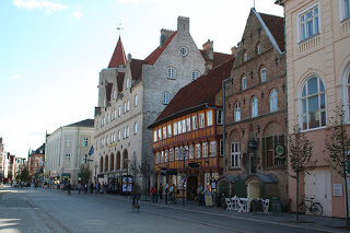 A picture of a street in Aalborg, Denmark
