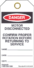 Motor Disconnected Tag