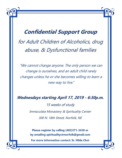 Confidential Support Group for Children of Alcoholics, Drug Abuse & Dysfunctional Families