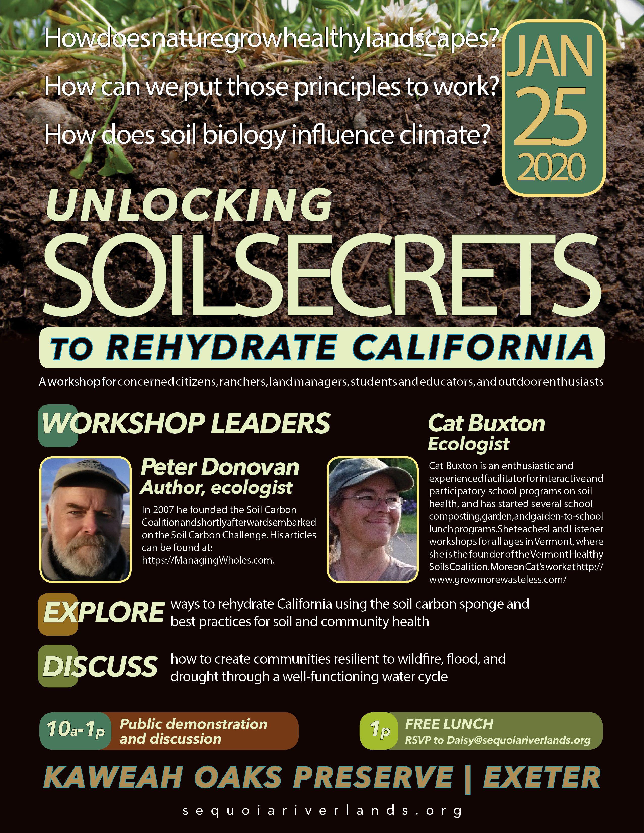 SOIL SECRETS: 'Soil sponge' role in healthy climate explored at Kaweah Oaks Jan. 25