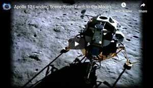 Apollo 12 Landing Scene
