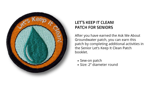 "Senior ""Let's Keep It Clean"" Patch"