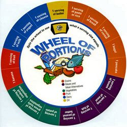 Food Serving Size Wheel of Portions