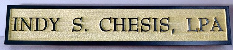 C12620-  Carved and Sandblasted  HDU Name Sign