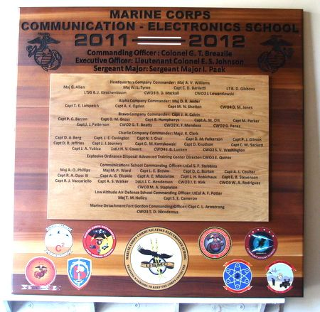 M3933  - Marine Corps Unit Organizational Wooden Plaque (Gallery 31)