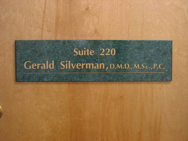 Interior Hallway, Office / Suite Door Sign, Metallic Gold Vinyl Lettering On Vinyl Covered Interchangeable Panel