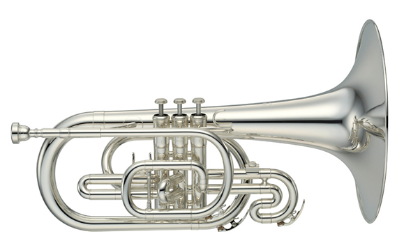 Yamaha YMP-204M Series Marching F Mellophone (Silver)