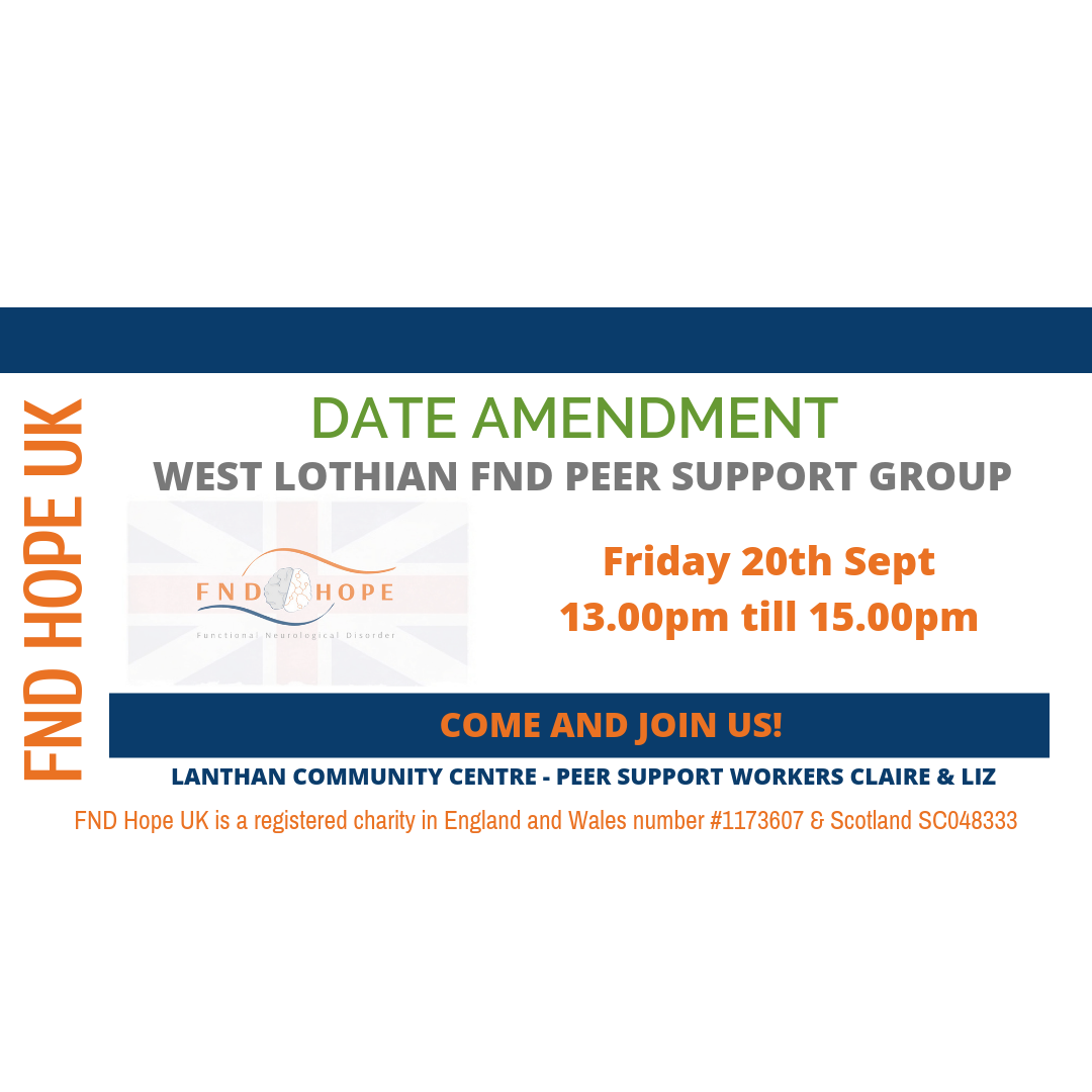 New West Lothian FND Peer Support Group is being launched