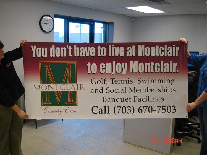 Montclair Custom Banner